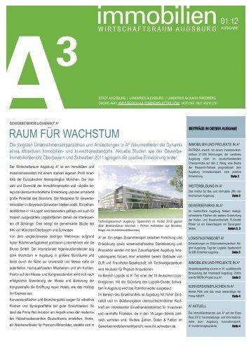 immobilien A³ 01/12 - im Wirtschaftsraum Augsburg.