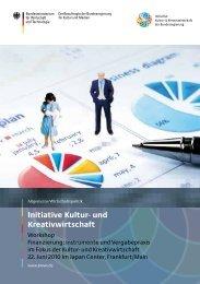 Finanzierung in der Kultur- und Kreativwirtschaft - Initiative Kultur ...