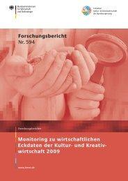 Monitoring zu wirtschaftlichen Eckdaten der Kultur - Initiative Kultur ...