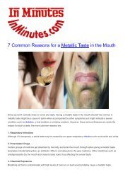 7 Common Reasons for a Metallic Taste in the Mouth