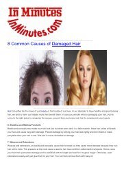 8 Common Causes of Damaged Hair