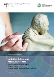 Branchenhearing Kunstmarkt - Initiative Kultur- und Kreativwirtschaft