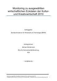 Monitoring Kultur- und Kreativwirtschaft 2010 - Initiative Kultur- und ...