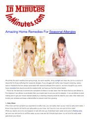 Amazing Home Remedies For Seasonal Allergies