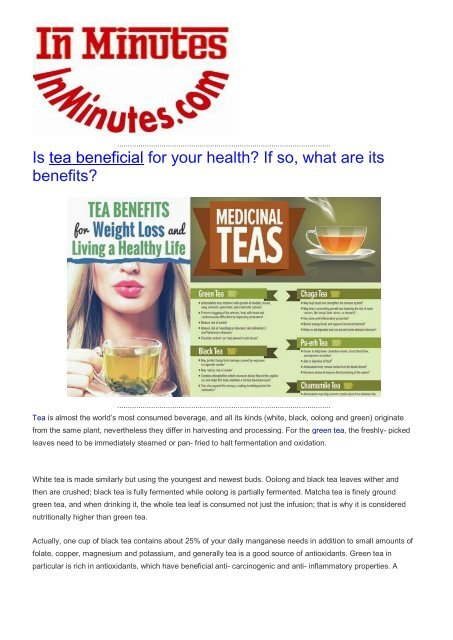 Is tea beneficial for your health