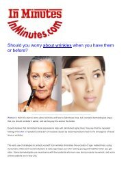 Should you worry about wrinkles when you have them or before