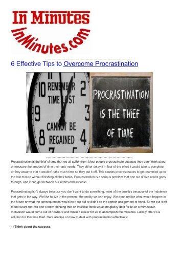 6 Effective Tips to Overcome Procrastination