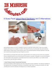 6 Scary Facts about Hand Sanitizers and 3 Alternatives