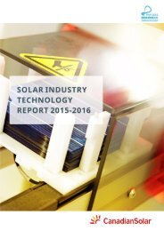Solar Industry Technology Report 2015-2016