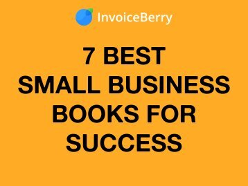 The 7 Best Small Business Books for Success