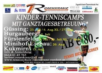 Sommercamps 2012 - Tennisschule Rosenkranz