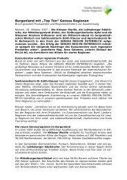 """Burgenland mit """"Top Ten"""" Genuss Regionen - Starke Marken ..."""