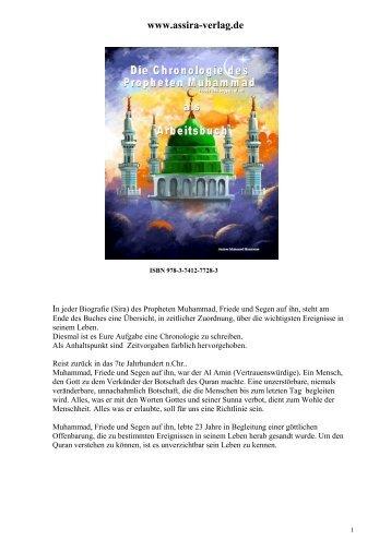 Die Chronologie des Propheten Muhammad