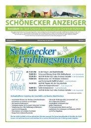 Schönecker Anzeiger April 2015