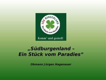 Präsentation Obmann Hagenauer, Südburgenland (PDF, 2MB)