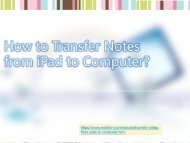 How to Transfer Notes from iPad to Computer?