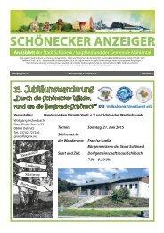 Schönecker Anzeiger Mai 2015