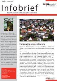 Heizungspumpentausch - KuK Klimawandel und Kommunen