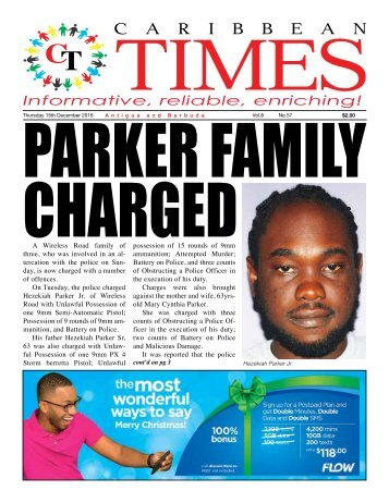Caribbean Times 57th Issue - Thursday 15th December 2016