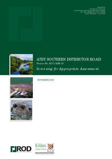 ATHY SOUTHERN DISTRIBUTOR ROAD