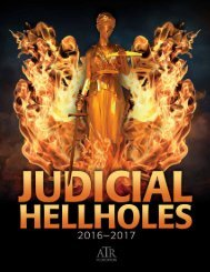 JUDICIAL HELLHOLES 2016–2017