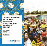 IN THE FOOD ECONOMY & IMPLICATIONS FOR POLICY MAKING
