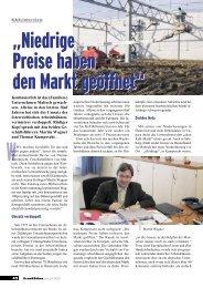 Kran & Bühne, Juni/Juli 2001: Niedrige Preise haben den Markt ...