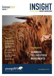 feature CHANGES TO LIVESTOCK MOVEMENTS