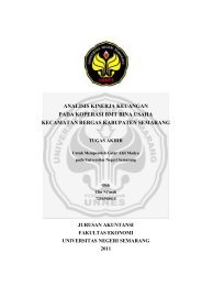 analisis kinerja keuangan pada koperasi bmt bina usaha kecamatan ...