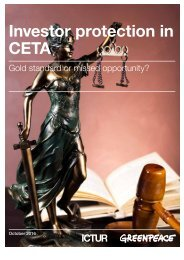 Investor protection in CETA