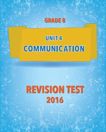 REVISION TEST