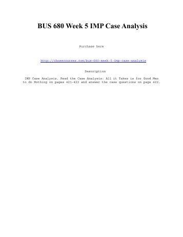 week 6 mkc3220 case analysis