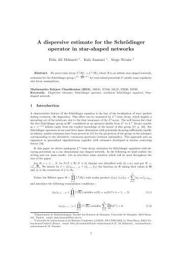 A dispersive estimate for the Schrödinger operator in star-shaped ...