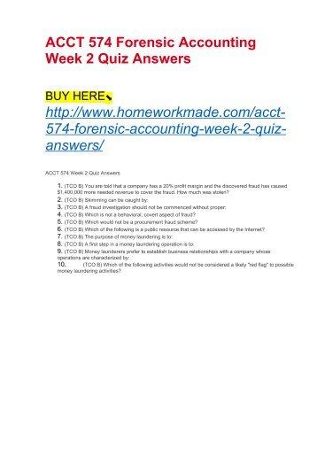 Acct 640 quiz 2 - Term paper Sample