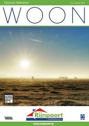 Rijnpoort Makelaars WOON magazine #31, uitgave januari 2017