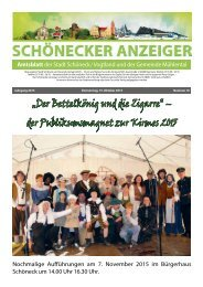 Schönecker Anzeiger Oktober 2015
