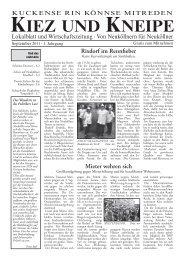 Promis treffen – Die Kinder jubeln - Kiez und Kneipe Neukölln