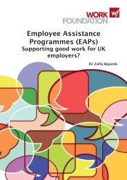 Employee Assistance Programmes (EAPs)