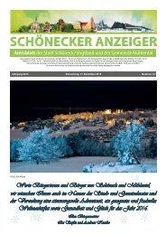 Schönecker Anzeiger Dezember 2015