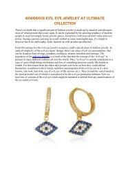 Gorgeous evil eye jewelry at Ultimate Collection