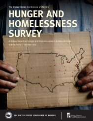 HUNGER AND HOMELESSNESS SURVEY