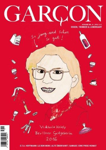 Magazin GARCON - Essen, Trinken, Lebensart Nr. 41