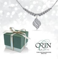 Orin Jewelers Holiday Catalog 2016 -  www.orinjewelers.com