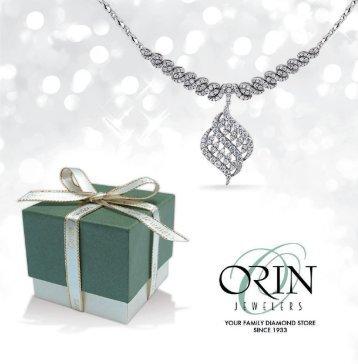 Orin Jewelers Holiday Catalog 2016 -  www.orinjewelers.com