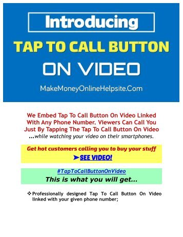 How To Create Tap To Call Button On Video