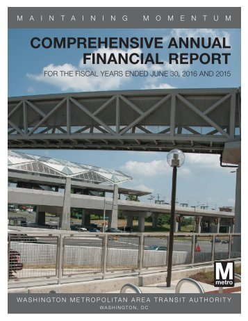 COMPREHENSIVE ANNUAL FINANCIAL REPORT