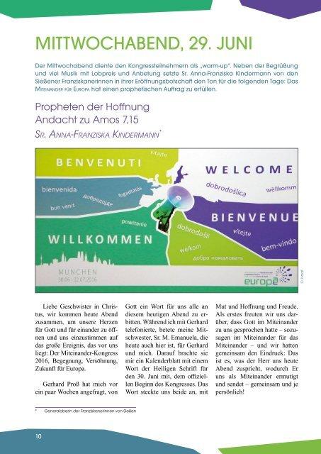 Miteinander für Europa - München 2016 - Dokumentation