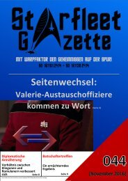 Starfleet-Gazette, Ausgabe 044 (November 2016)