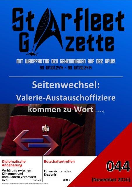 Starfleet-Gazette, Ausgabe 044 (November 2016)