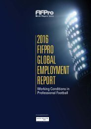 2016 FIFPRO GLOBAL EMPLOYMENT REPORT